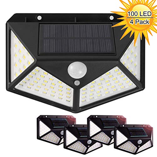 From USA Solar Lights Outdoor, 100 LEDs, 3 Adjustment Modes, Wireless Motion S