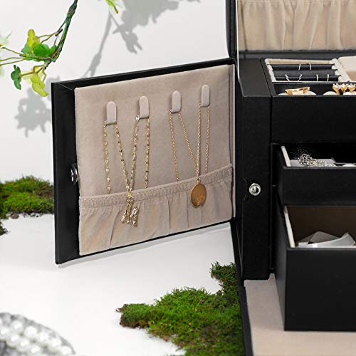 (FROM USA) SONGMICS Jewelry Box for Women, Jewelry Organizer with 2 Drawers, L