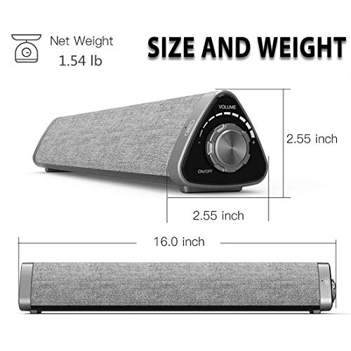 ..../ From USA/ Sound Bar, ASIYUN Wired and Wireless Bluetooth 5.0 Audio Speak