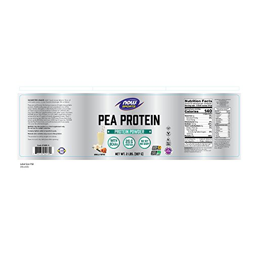 From USA NOW Sports Nutrition, Pea Protein 25 G With BCAAs, Easily Digested, V