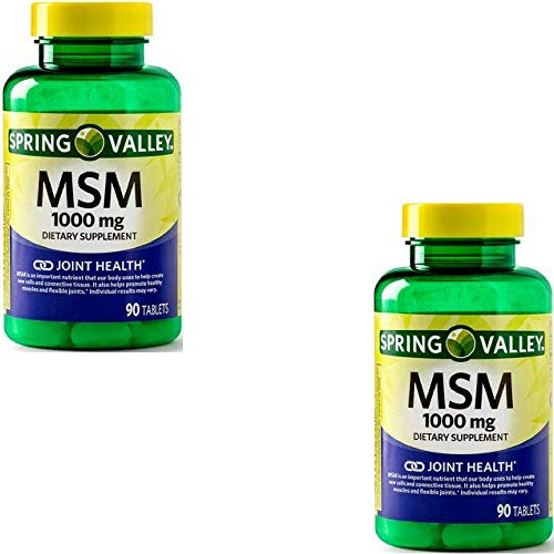 (FROM USA) Spring Valley - MSM 1000 mg, 90 Capsules (2 Pack)
