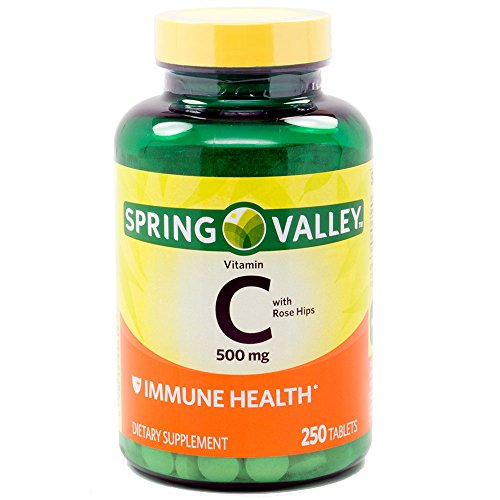 From USA Spring Valley - Vitamin C 500 mg with Rose Hips, 250 Tablets
