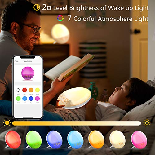 (FROM USA) Sunrise Alarm Clock Wake-Up Light - Natural Light Alarm Clocks,with