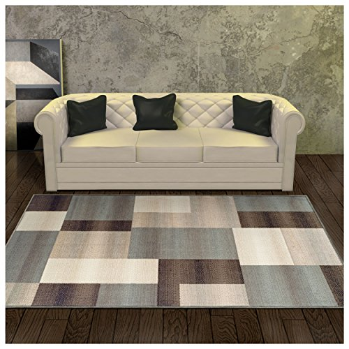 (FROM USA) Superior Elegant Clifton Area Rug, Rectangular Tile Modern Pattern