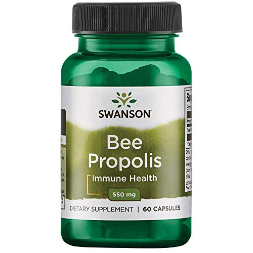 (FROM USA) Swanson Bee Propolis 550 Milligrams 60 Capsules