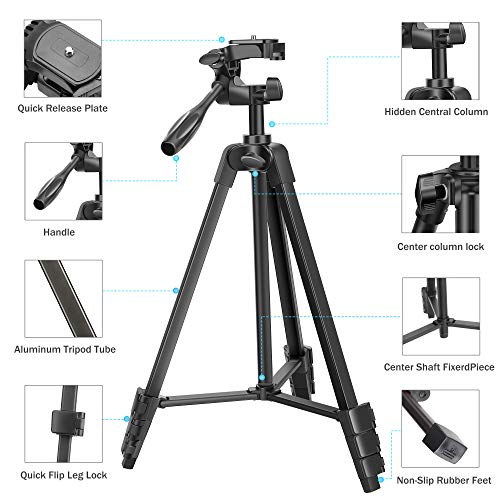 From USA TAIROAD Phone Tripod, Portable Lightweight Aluminum Travel Tripod wit