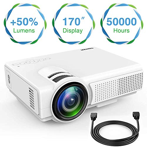 From USA TENKER Q5 Mini Projector 1080P Supportted, with Big Display LED Full
