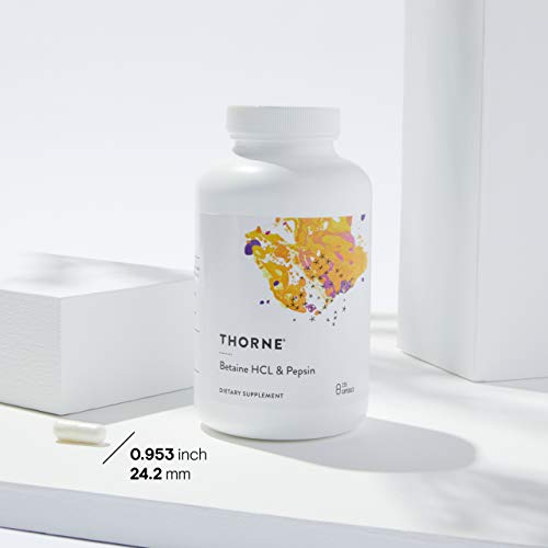(FROM USA) Thorne Research - Betaine HCL  & Pepsin - Digestive Enzymes for Pro