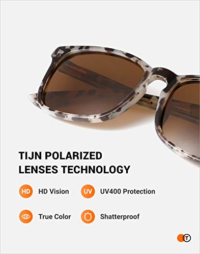 From USA TIJN Polarized Sunglasses for Women Men Classic Trendy Stylish Sun Gl