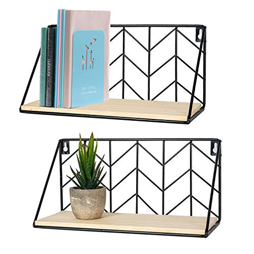 [From USA]TIMEYARD Floating Shelves Wall Mounted Set of 2 Rustic Arrow Design