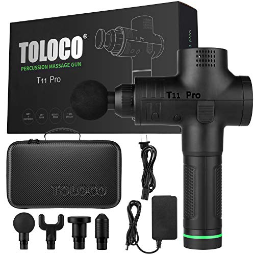 From USA TOLOCO Massage Gun - T11 Pro Upgraded Handheld Muscle Deep Tissue Mus