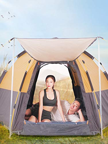From USA Toogh 3-4 Person Camping Tent Backpacking Tents Hexagon Waterproof Do