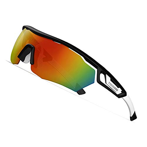 From USA TOREGE Polarized Sports Sunglasses with 3 changeable Lenses for Men W