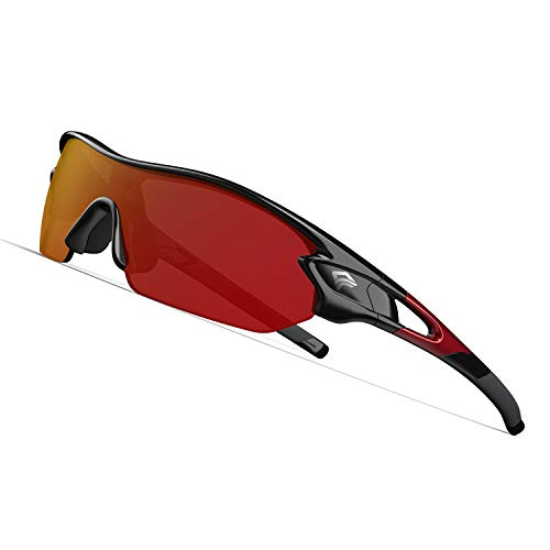 From USA TOREGE Polarized Sports Sunglasses with 3 Interchangeable Lenses for