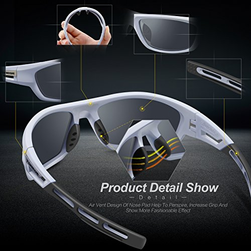 From USA TOREGE Polarized Sports Sunglasses for Men Women Cycling Running Driv