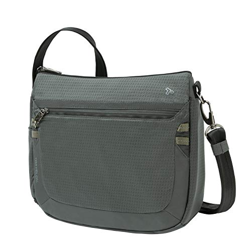 (FROM USA) Travelon Anti-Theft Active Medium Crossbody, Charcoal, One Size