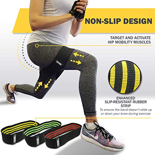 From USA Tribe Lifting Resistance Hip Bands | Leg Band for Hip Work Out or Phy