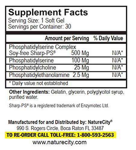 (FROM USA) True-PS Soy Free Stabilized Phosphatidylserine 500mg Supplement - B