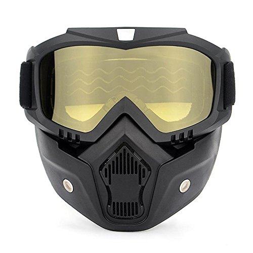 [From USA]Ubelly Motorcycle Goggles with Detachable Mask Motocross Riding Cycl