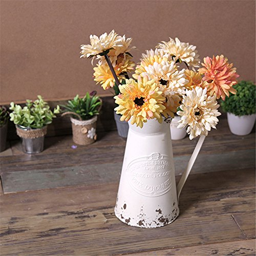 (FROM USA) VANCORE Shabby Chic Large Metal Jug Flower Pitcher Vase