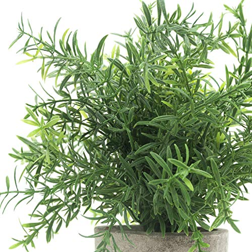 (FROM USA) Velener Mini Potted Plastic Fake Green Plant for Home Decor (Bamboo