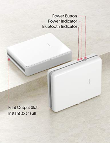 "From USA Victure 3x3"" Portable Photo Printer, Bluetooth Connection, Recharge"