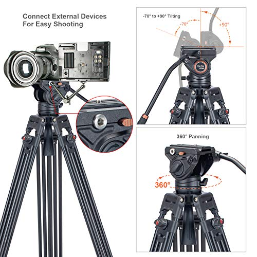 From USA Video Tripod System, Cayer BV30L 72 inch- Professional Heavy Duty Alu