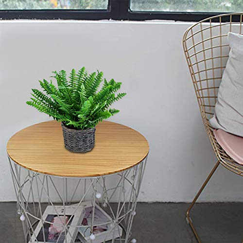 (FROM USA) VILIVIT Boston Fern Artificial Plants with Pastoral Woven Flower Ba