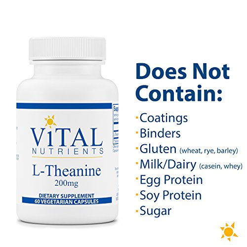 (FROM USA) Vital Nutrients - L-Theanine - Supports Normal Stress Levels and Co