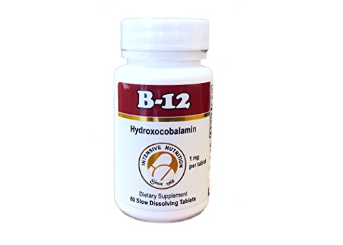 (FROM USA) Vitamin B12 as Hydroxocobalamin 1mg Slow Dissolving Tablets