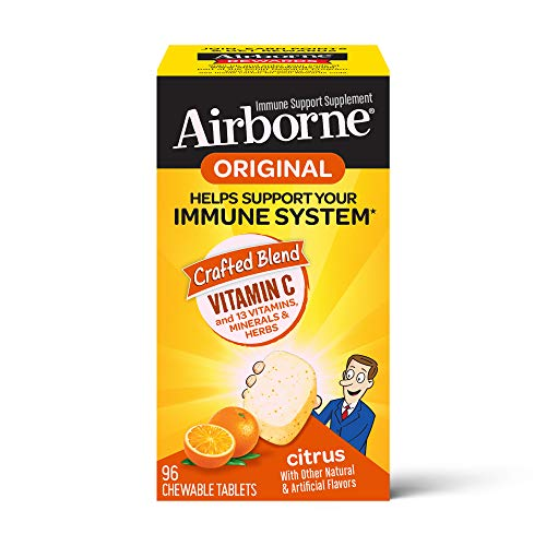 From USA Vitamin C 1000mg - Airborne Citrus Chewable Tablets (96 count in a bo