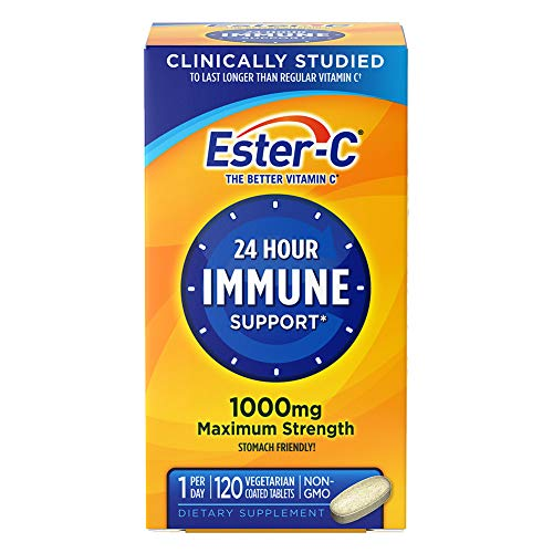 From USA Vitamin C by Ester-C, 24 Hour Immune Support, 1000mg Vitamin C, 120 C