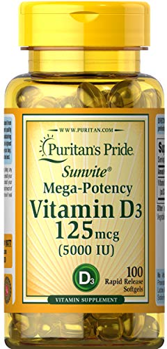 (FROM USA) Vitamin D3 Mega Potency 5000 IU Bolsters Immune Health by Puritan's