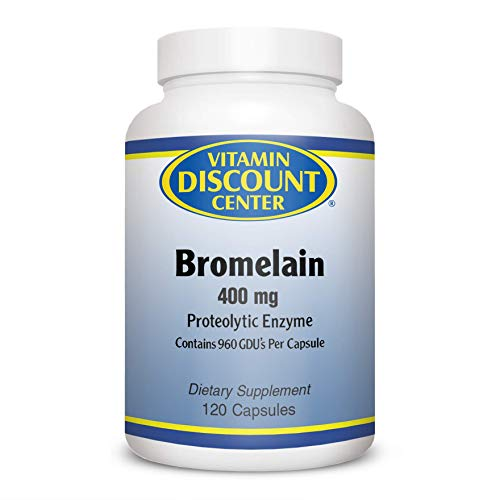 (FROM USA) Vitamin Discount Center Bromelain 400mg, 120 Capsules