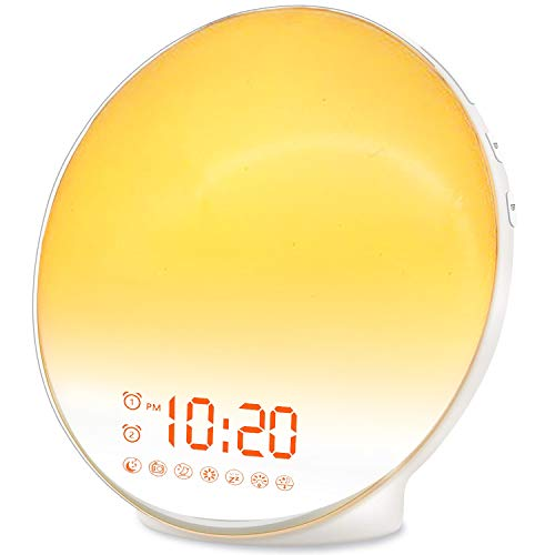 (FROM USA) Wake Up Light Sunrise Alarm Clock for Kids, Heavy Sleepers, Bedroom