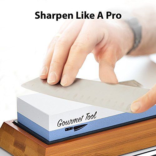(FROM USA) Whetstone Knife Sharpener by Gourmet Tool - 1000/6000 Knife Sharpen