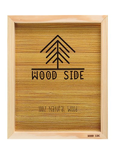 (FROM USA) Wood Side Wooden Picture Frame 12x16-100% Natural Eco Unfinished So