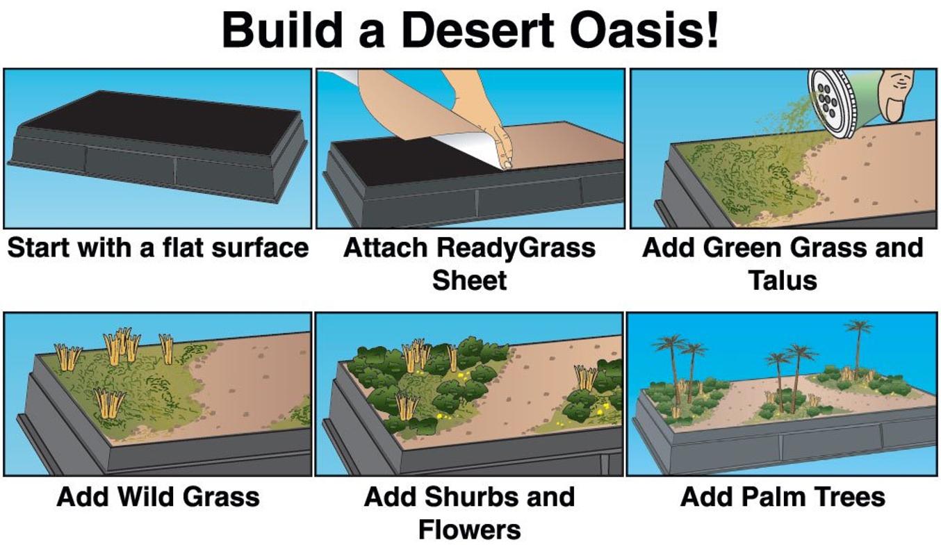USA Woodland Scene-A-Rama SP4112 Desert Oasis Diorama Kit SP4165 Project  Base