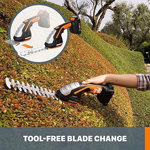 From USA Worx WG801 20V Shear Shrubber Trimmer, Battery and Charger Included,B
