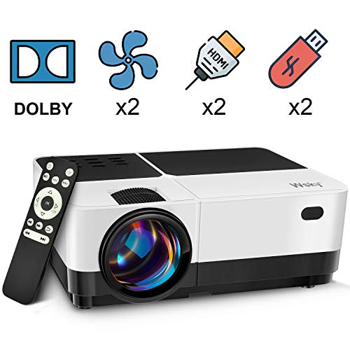 From USA Wsky Video Portable Projector Outdoor Home Theater, LED LCD HD 1080p