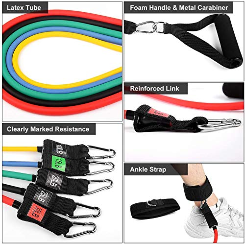 From USA YF Funyole Resistance Bands Set, 11 Pack Exercise Bands Workout Resis