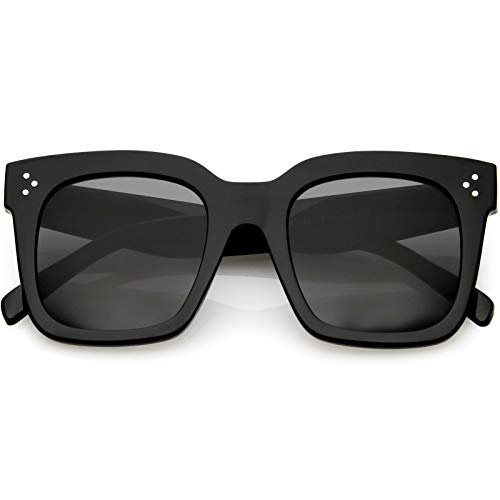 From USA zeroUV - Retro Oversized Square Sunglasses for Women with Flat Lens 5