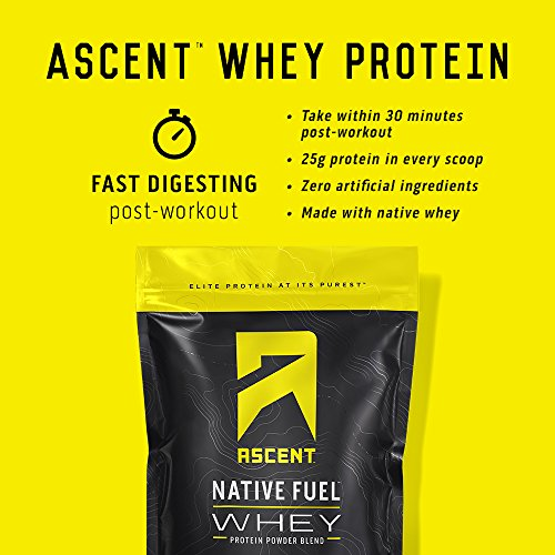 [USAmall] Ascent Native Fuel Whey Protein Powder - Chocolate - 4 lbs