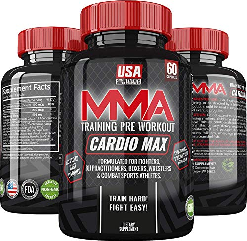 [USAmall] Cardio Max Pre Workout Capsules - Energy Pills - Nootropic Brain Boo
