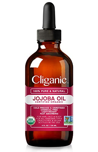 [USAmall] Cliganic USDA Organic Jojoba Oil, 100% Pure (4oz Large) | Natural Co