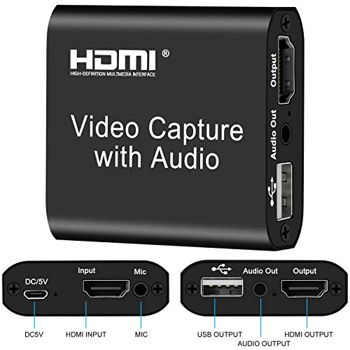 [USAmall] DIGITNOW Audio Video HDMI Capture Card with Loop Out, USB 2.0 4K HD
