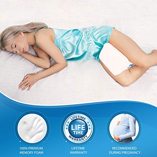 [USAmall] Everlasting Comfort Pure Memory Foam Knee Pillow with Adjustable and