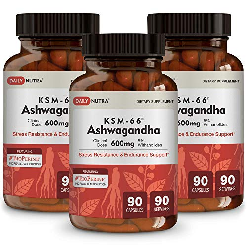 [USAmall] KSM-66 Ashwagandha by DailyNutra - 600mg Organic Root Extract - High