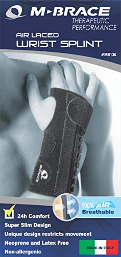 [USAmall] M-Brace AIR V-136RR Wrist Splint Right Regular, Black, Carpal Tunnel