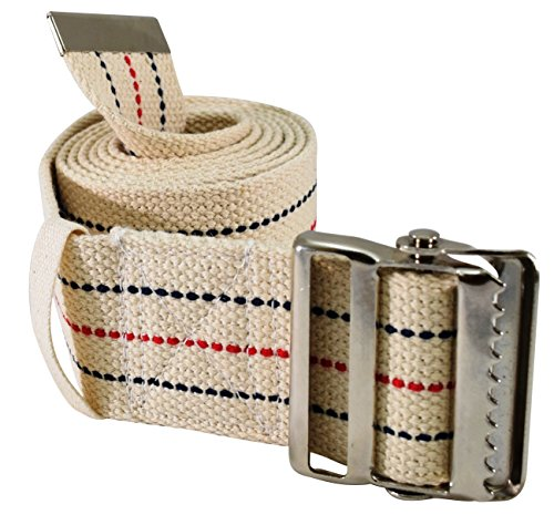 [USAmall] Secure SGBM-60S Patient Transfer and Walking Gait Belt with Metal Bu